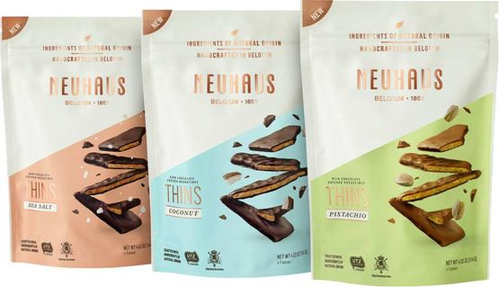 Neuhaus Nougat Thins - 3 Variationen